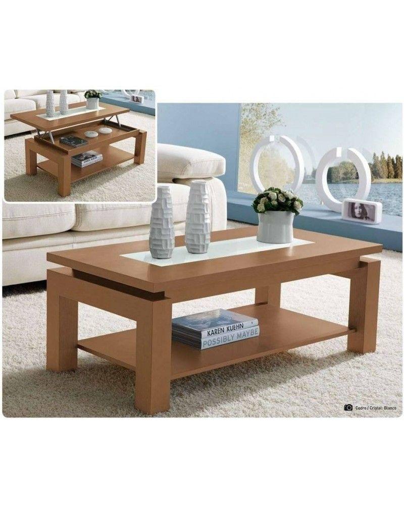 Mesa centro moderna elevable madera 194 105 mobles sedav - Mesas de madera modernas ...