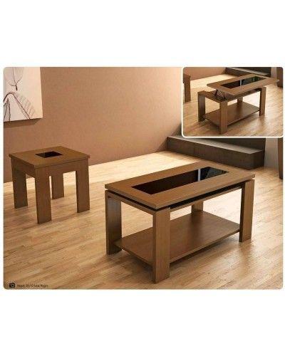 Mesa de centro moderna elevable madera 194-387