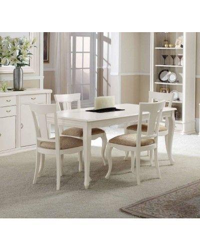 Mesa de comedor clásica beige 194-630