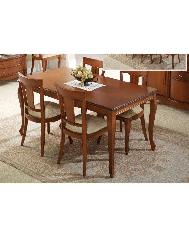 Mesa de comedor clásica cerezo 194-630 | Mobles Sedavi