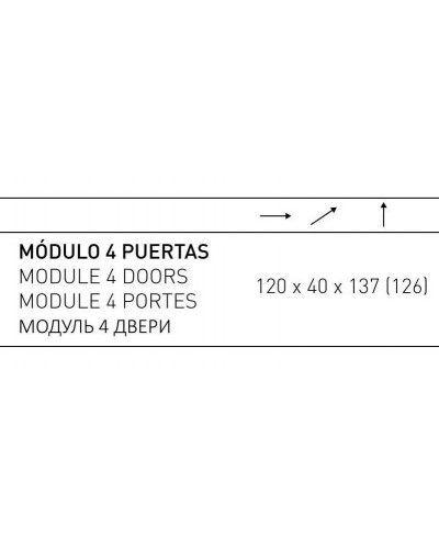 Aparador moderno diseño 194-2027 Blanco-Oro