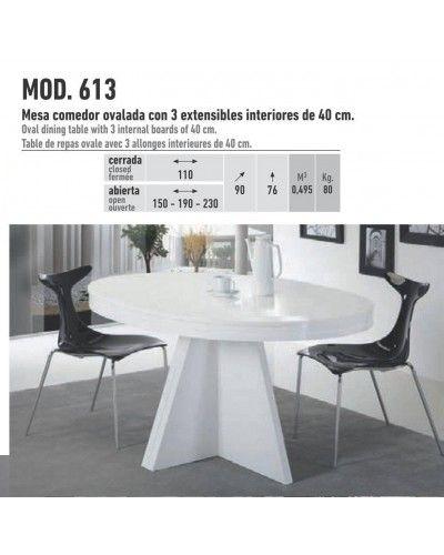 Mesa de comedor moderna extensible 194-613 | Mobles Sedaví