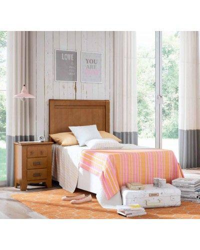 Dormitorio juvenil colonial rustico madera lacado 79-OC293