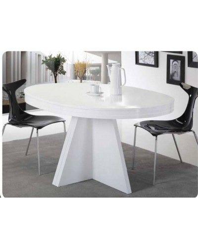 Mesa de comedor moderna extensible 194 613 mobles sedav - Mesa comedor ovalada extensible ...