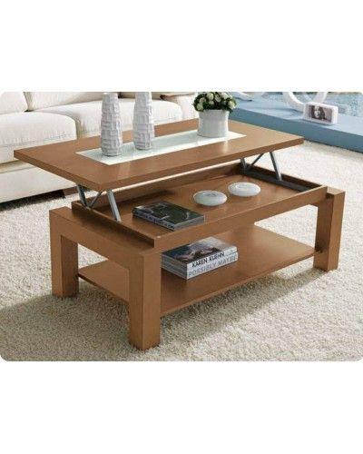 Mesa de centro moderna elevable madera 194-105