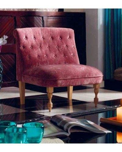 Sillón retro tapizado 956-273 Rojo