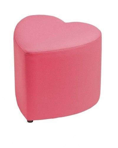 Puff tapizado corazón 956-06