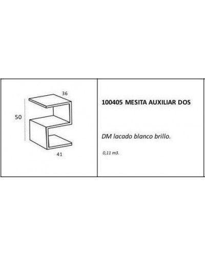 Mesa rincón auxiliar moderna lacado brillo 962-Dos