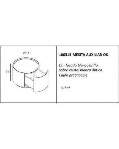 Mesa centro auxiliar moderna lacado brillo 962-314