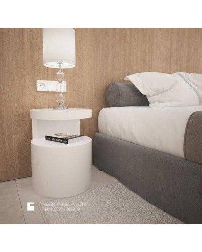 Mesa rincón redonda auxiliar moderna lacada brillo 962-522