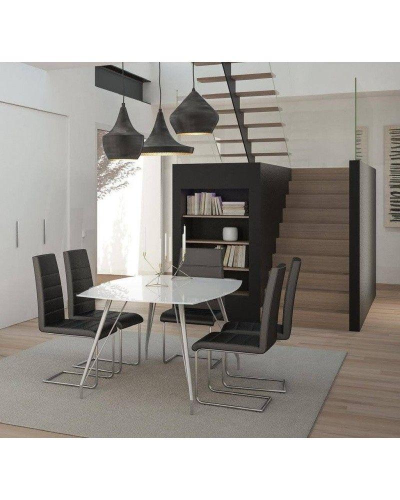 Mesa comedor cristal moderna brillo 962 056 mobles sedav for Mesa cristal moderna