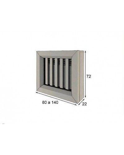 Cubreradiador moderno lacado alta calidad 397-R03