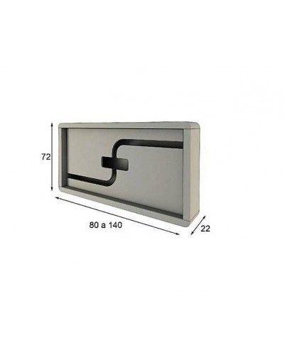 Cubreradiador moderno lacado alta calidad 397-R04