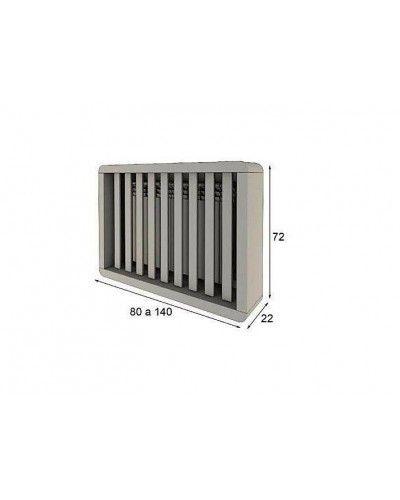 Cubreradiador moderno lacado alta calidad 397-R05
