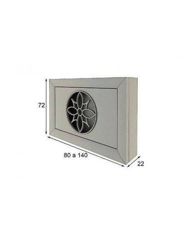 Cubreradiador moderno lacado alta calidad 397-AZ12