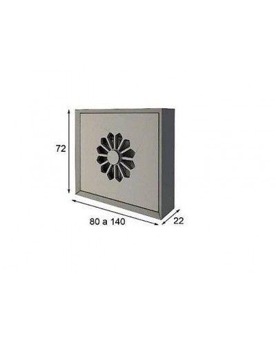 Cubreradiador moderno lacado alta calidad 397-R08
