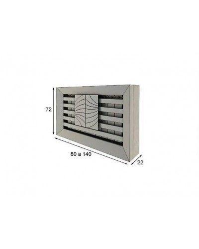 Cubreradiador moderno lacado alta calidad 397-R11