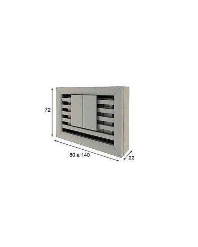 Cubreradiador moderno lacado alta calidad 397-R12