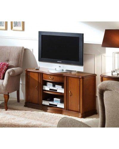 Mueble TV clásico cerezo 194-902