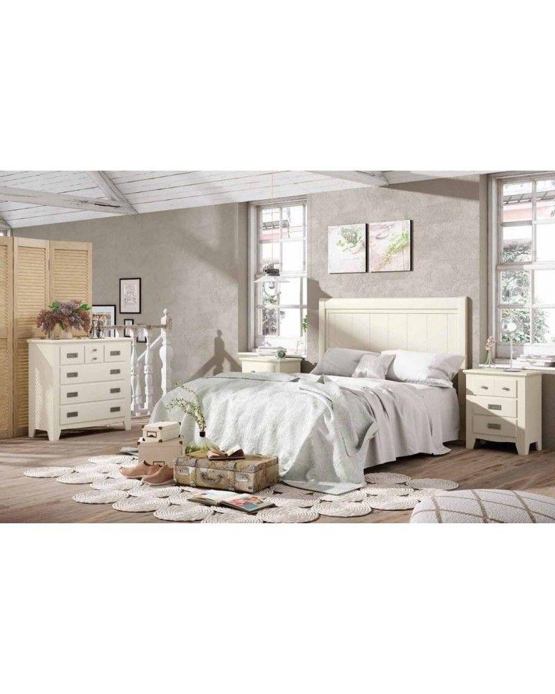Dormitorio matrimonio colonial rustico madera lacado 79-OC289