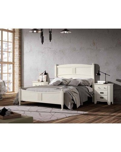 Dormitorio matrimonio colonial rustico madera lacado 79-OC285