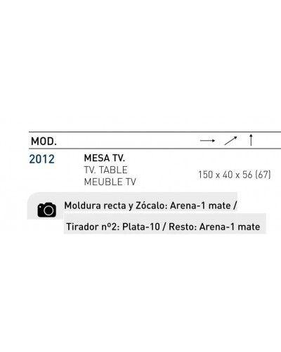 Mesa TV moderna lacado brillo 194-2012 Arena