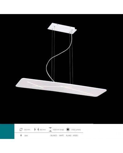 Lámpara LED de techo para salón metálica moderna 1099-32