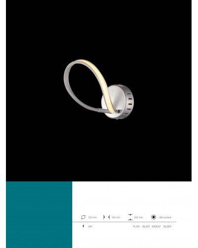Lámpara LED de pared salón metálica moderna 1099-68