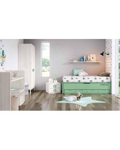 Cuna convertible dormitorio juvenil infantil 224-608