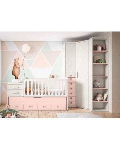 Cuna convertible dormitorio juvenil infantil 224-609