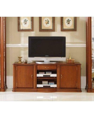 Mueble TV clásico cerezo 194-901