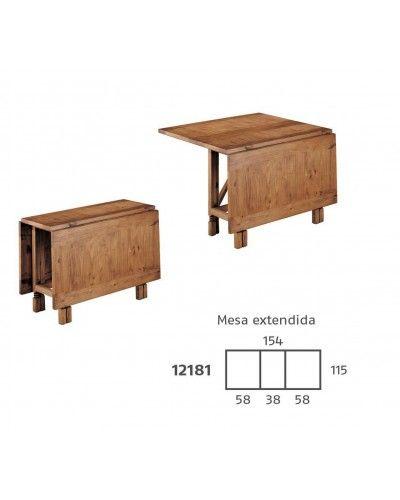 Mesa comedor mexicano rustico colonial 195-12181