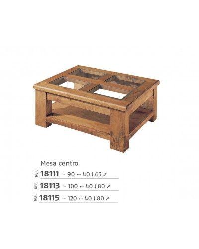 Mesa centro mexicano rustico colonial 195-18111