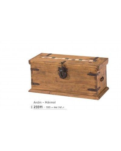 Arcón-baúl  mexicano rustico 195-23311