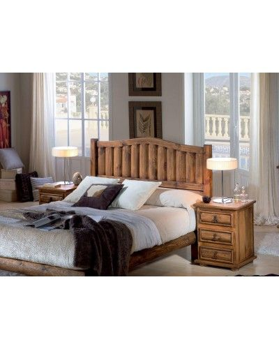 Dormitorio matrimonio rustico mexicano macizo 195-26317