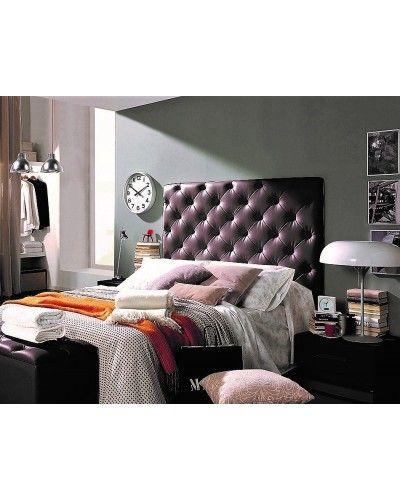 Cabezal tapizado dormitorio moderno 956-92 chocolate