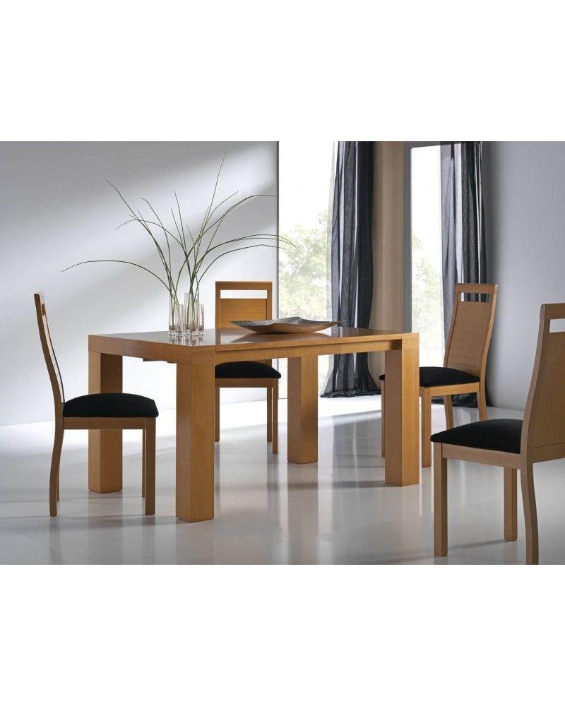 Mesa de comedor moderna extensible 1009 95 mobles sedav - Mesa comedor extensible moderna ...