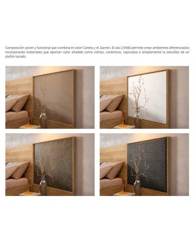 Dormitorio matrimonio moderno beladur 270-BH07