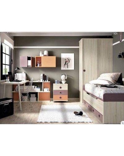 Dormitorio juvenil  infantil moderno 363-101