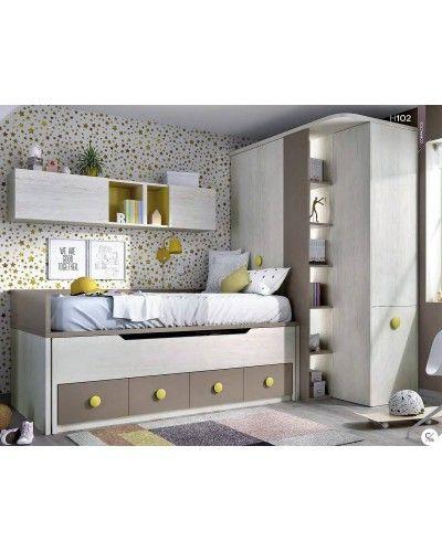Dormitorio juvenil infantil moderno 363-102