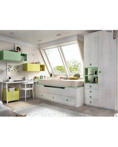 Dormitorio juvenil infantil moderno 363-103