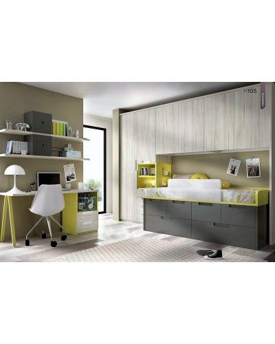 Dormitorio juvenil infantil moderno 363-105