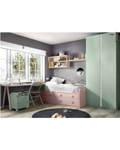 Dormitorio juvenil infantil moderno 363-106