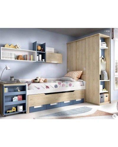 Dormitorio juvenil infantil moderno 363-108