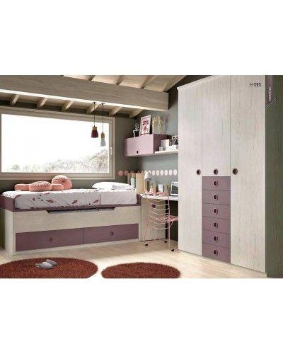 Dormitorio juvenil infantil moderno 363-111