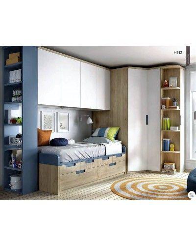 Dormitorio juvenil infantil moderno 363-112