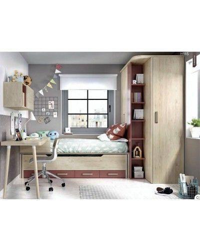 Dormitorio juvenil infantil moderno 363-115