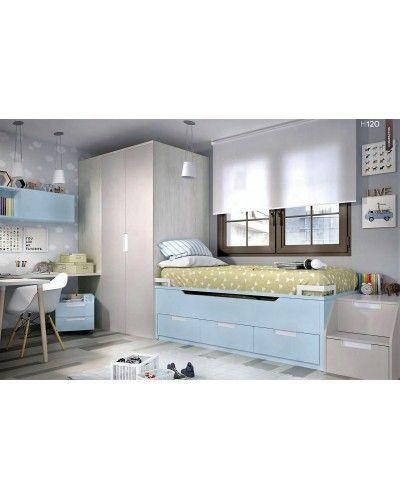 Dormitorio juvenil infantil moderno 363-120