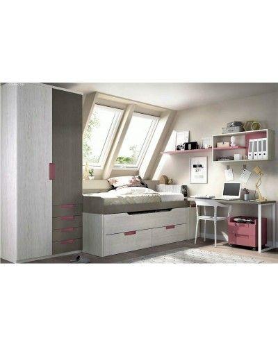 Dormitorio juvenil infantil moderno 363-124