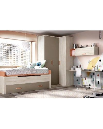 Dormitorio juvenil  infantil moderno 363-125